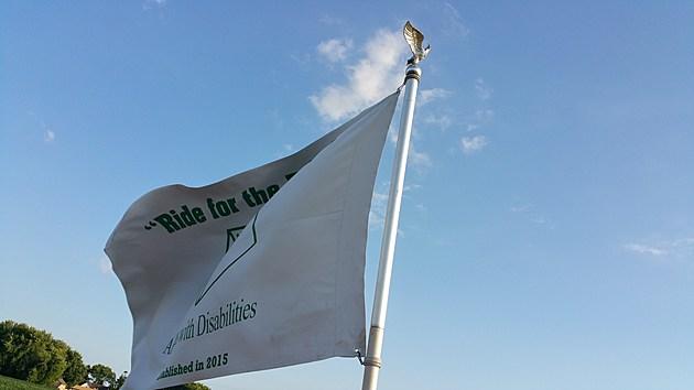 Ride for Brand flag/Melissa Hall Townsquare Media
